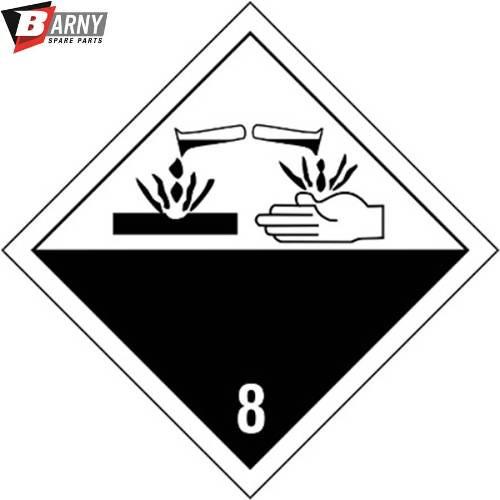 Etichetta adesiva Corrosivo A.D.R. classe 8