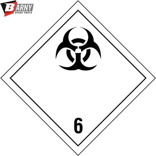 Etichetta adesiva Infettivo classe 6.2 A.D.R.